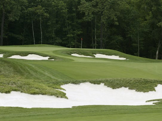 The par-4, first hole at Metedeconk National in Jackson