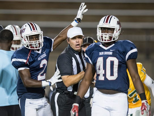 Referee Skip Powe during the Park Crossing vs. Carver