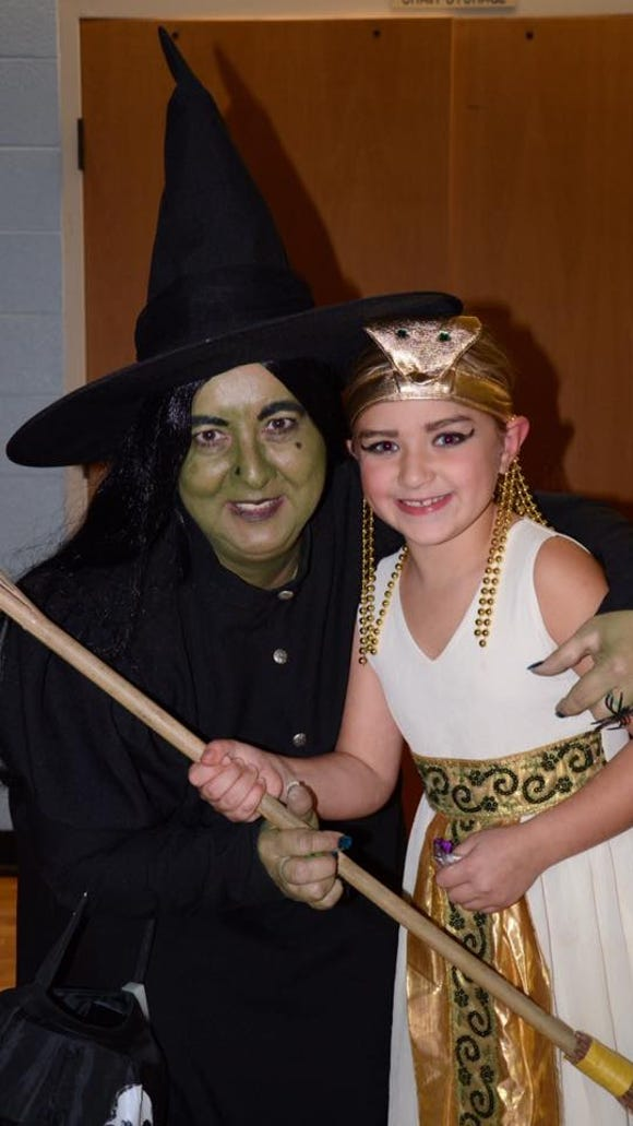 Second Grader Daniella Fico, as Cleopatra, meets the Wicked Witch of the West. (Provided photo)