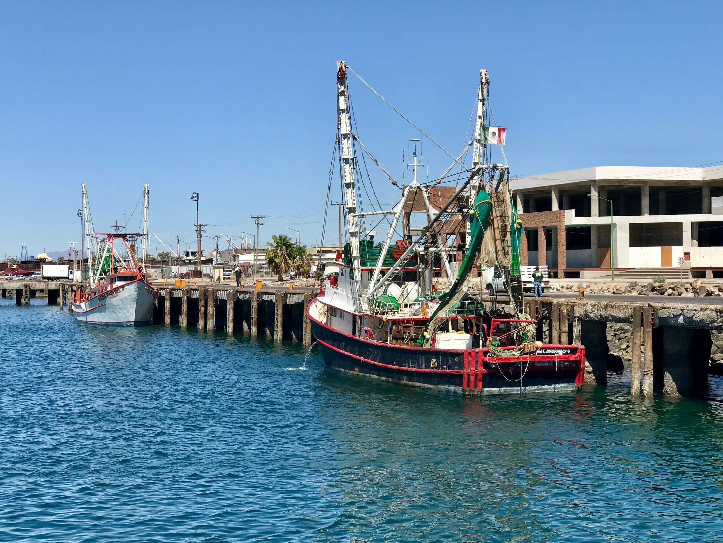 A shrimp boat in Puerto Peñasco