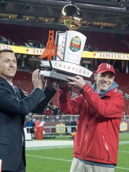 The Foster Farms Bowl, won last season by coach Mike