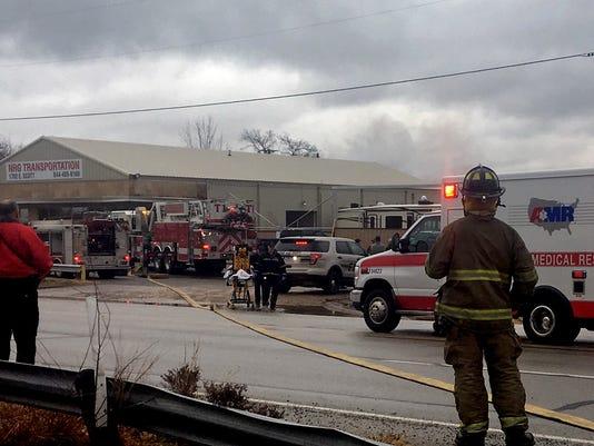 Scott Avenue Fire 1