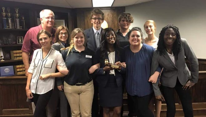 The ULM Mock Trial Gold Squad swept all of its rounds for a victory at the Jackson Joust.