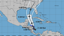 Hurricane Nate is forecast to hit the Gulf Coast of