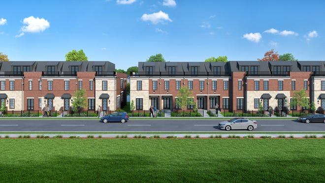 "A rendering of the ""Parisian-style"" rowhouses to be built on Pennsylvania Street just north of 18th Street in the Herron-Morton neighborhood."