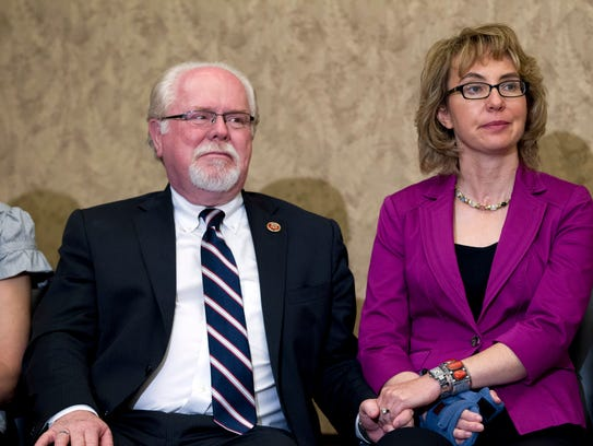 Former Rep. Gabrielle Giffords, D-Ariz., and Rep. Ron