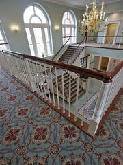 New carpet is seen on the second floor of the Carmel City Hall, 1 Civic Square in Carmel, Friday, Feb. 9, 2018.