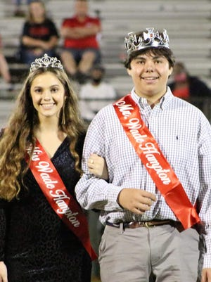Miss Wade Hampton 2020 is Elleson Anne Rainsford, flanked by Mr. Wade Hampton, John Henry Foy.