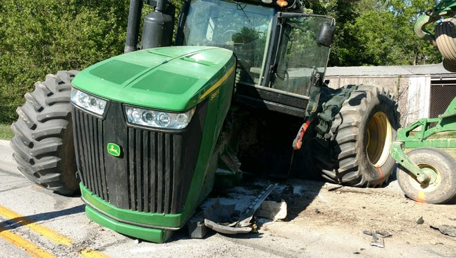 Cecil L Hillers, 75, was traveling south on Ind. 39 near Ind. 236 when his GMC pickup veered into an oncoming John Deer tractor.