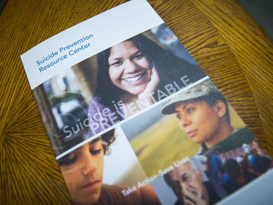 A pamphlet on suicide prevention provided by the Southern