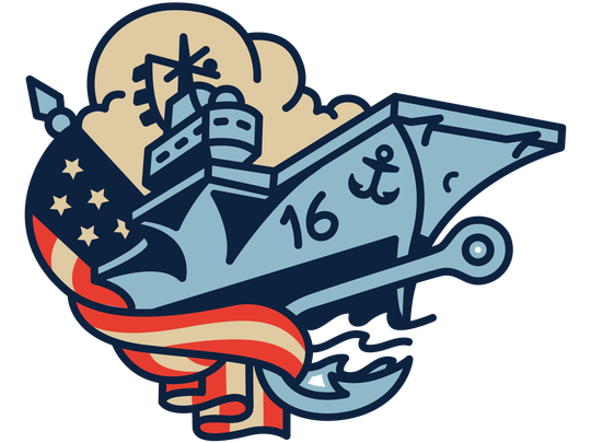 One of the Corpus Christi Hooks Blue Ghosts-themed logos. The Hooks will be the Blue Ghosts for a weekend in June.The name is a tribute to the Lexington Museum on the Bay.