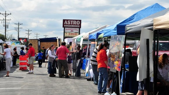 Vendor tents are seen at the 2014 the Delaware Small Business Chamber's Delaware Consumer Expo & Marketplace. Renamed Fun Fest, the event will be held at the Astro Shopping Center on Saturday.