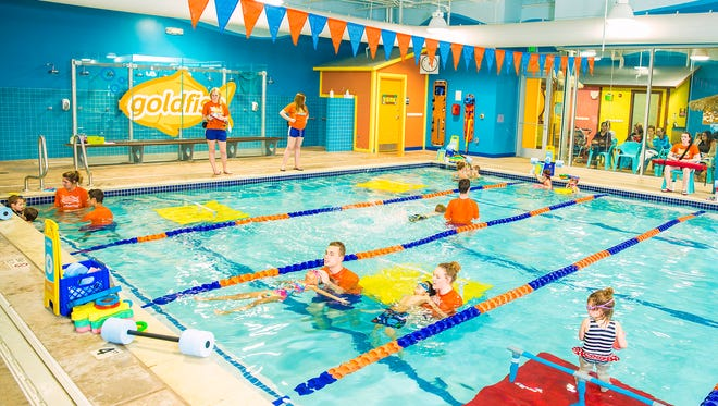 Goldfish Swim School prides itself on its small class sizes and highly-trained instructors.