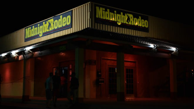 The front of the Midnight Rodeo on June 23, 2018 in San Angelo. The nightclub saw its last night of business before closing permanently.