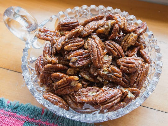 Honey Roasted Pepper Pecans give guests something to munch on.