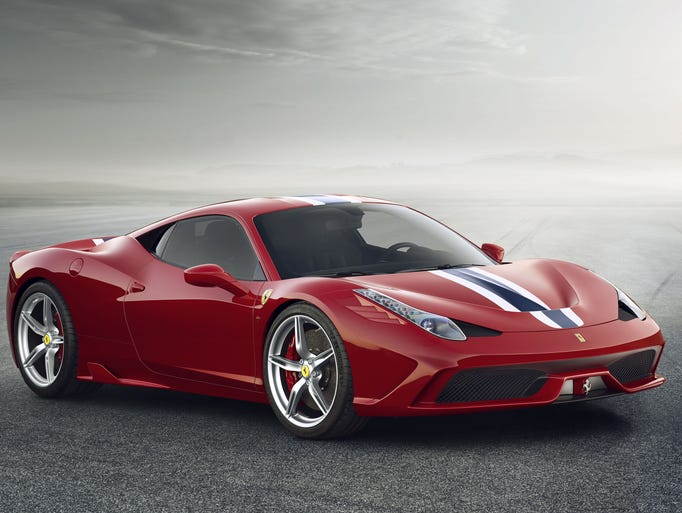 Ferrari 458 Speciale is the brand's latest supercar. Zero to 62 miles per hour in 3 seconds.