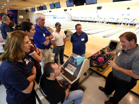 Tom Gentilella coaches during the 16th annual Pro Image Bowling Boot Camp at Rockaway Lanes on July 15, 2016.