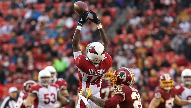Receiver J.J. Nelson has shown promise, but inconsistencies have the Cardinals looking to the draft for help at the position.
