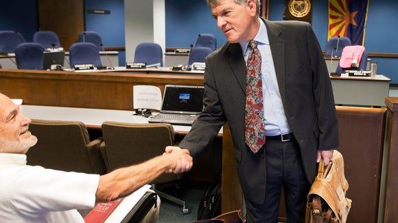 AJ LaFaro (standing) is  head of the Maricopa County