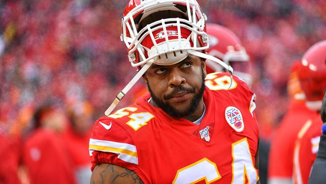 Chiefs defensive tackle Mike Pennel has been suspended for the first two games of the year.