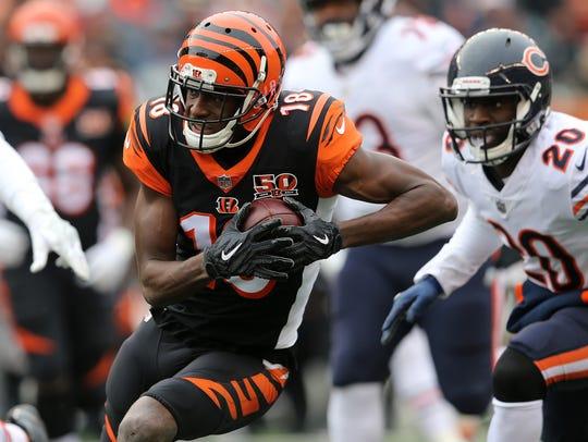 Cincinnati Bengals wide receiver A.J. Green says he's