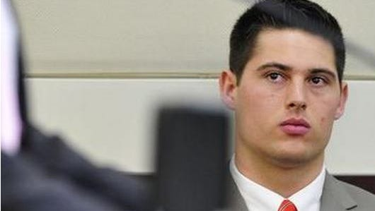 File photo: Brandon Vandenburg, of Indio, listens during jury selection in a January file photo.
