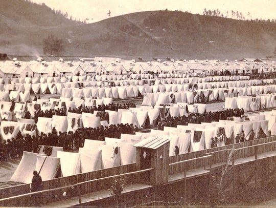 A prison camp operated along the Chemung River in Elmira