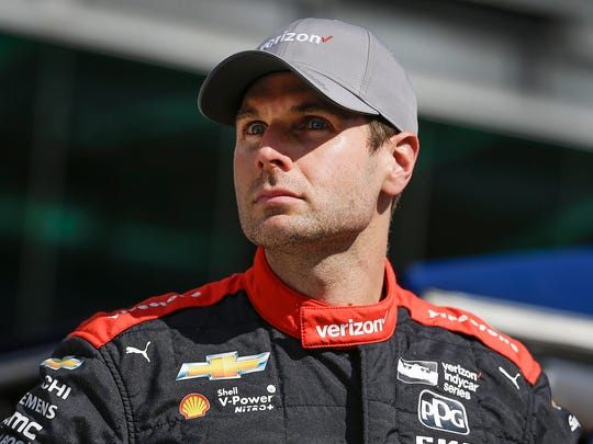 Team Penske IndyCar driver Will Power (12) looks on after getting bumped from the pole position during Pole Day at the Indianapolis Motor Speedway on Sunday, May 20, 2018. for the Indianapolis 500.