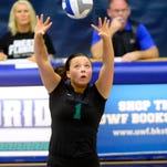 UWF setter Monique StCyr was part of the Argos strong showing Tuesday night in a sweep of Mississippi College. The game was moved to Pensacola State College due to a power failure on campus.
