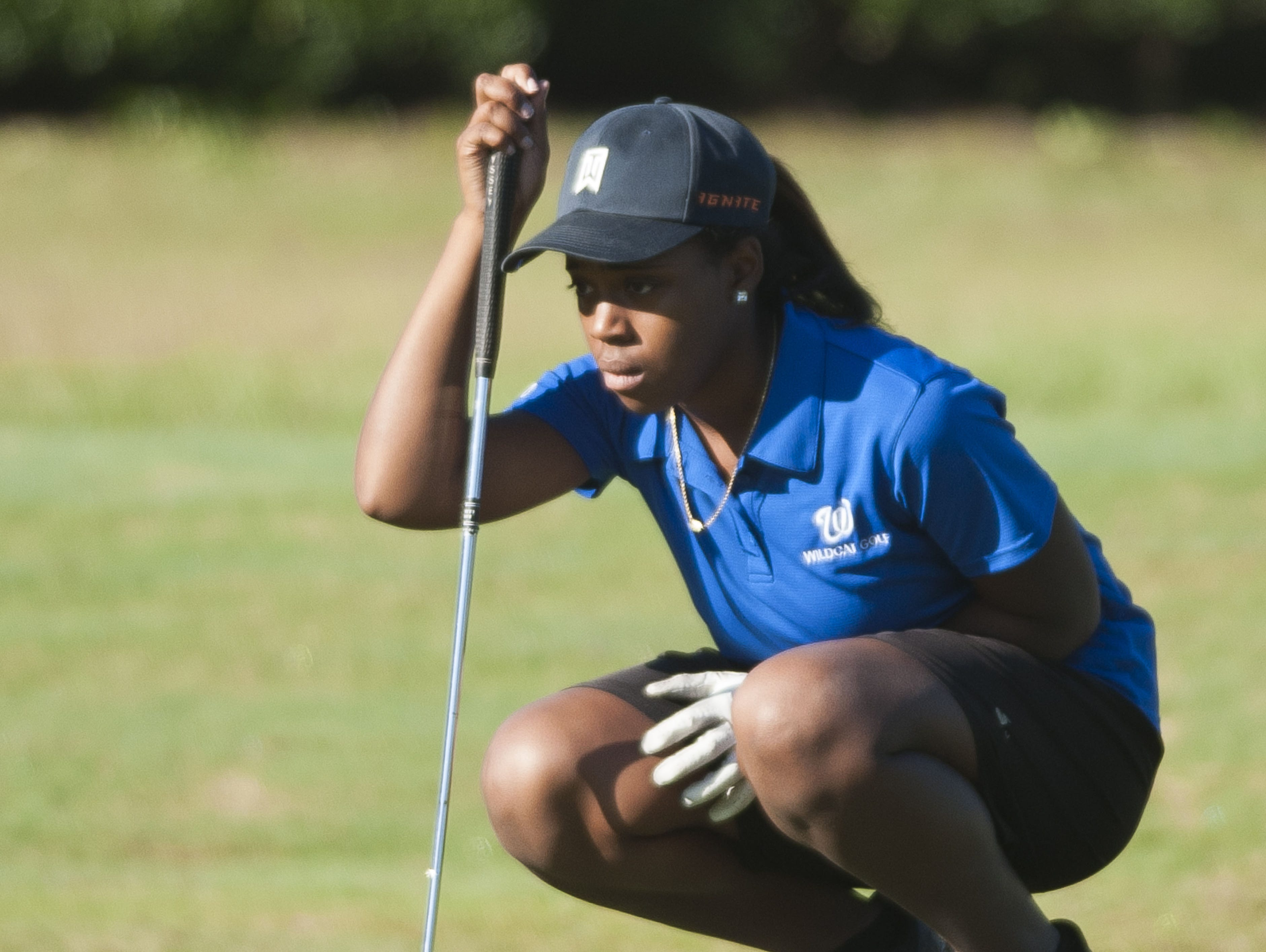 Washington High senior Jade Sanders advanced to the state golf tournament after solid play Tuesday in the Region 1-2A Tournament.
