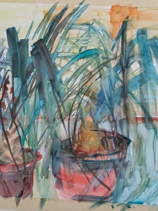 Lynnea Schliesleder painting
