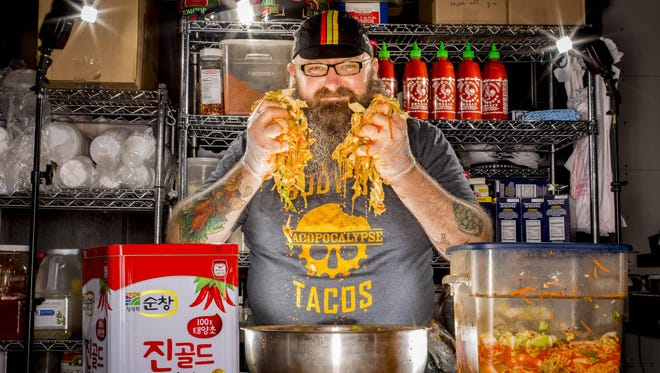 "Sam Auen, owner of Tacopocalypse in Des Moines' East Village, was a ""People to Watch"" selection in 2015."