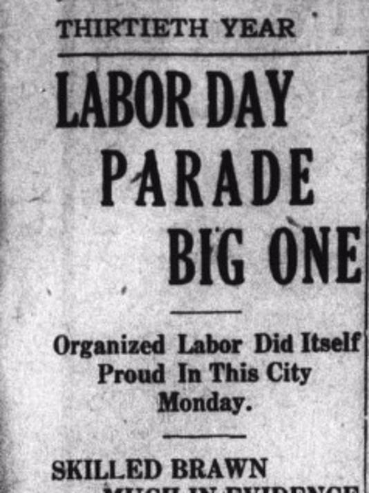 LABOR DAY 1910 HEADLINE