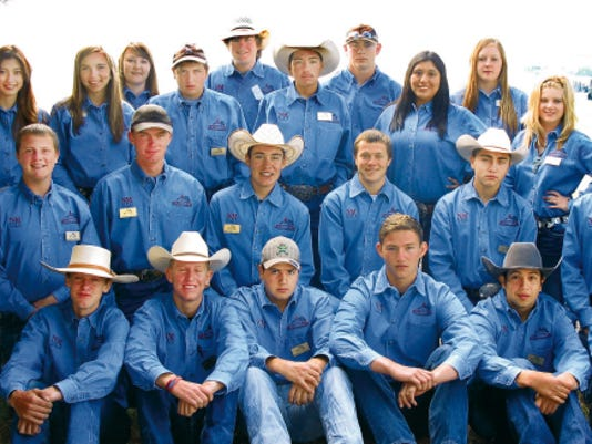 Jane Moorman - NMSU Photo   NM Youth Ranch Management Camp 2015 campers Front row from left: Kaleb Meador, Collen Spradley, Benjamin Sanchez, Noah Fleming, Abram Chaparro and Carson Vandiver. Second row from left: (kneeling) Hayden Randall, Sam Jameson, Miguel Mateo Romero, Bradley Jones, Michael Carrejo and Jason Quintana. Third row from left: Hannah Jameson, Lena Sanchez, Abby Spindle, Andrew Sanchez, Antonio Jaramillo, Kari Vallo, Jessica Hays and Cheyanne Carlisle. Back row from left: Matricia Garcia, Corde Bason, Thomas Sullivan and Taylor Anaya.
