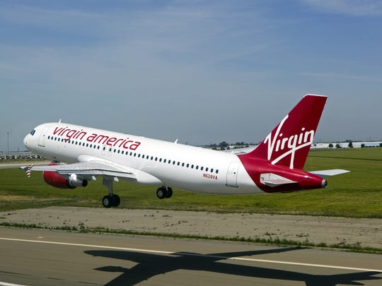 This photo provided by Virgin America shows one of the airline's Airbus 320 jets. The airline has served Palm Springs since 2011.
