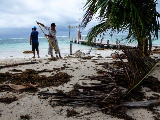 Playas dañadas, inundaciones y destrucción ha dejado