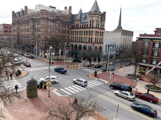 Continental Square -- the intersection of George and Market streets in downtown York-- has seen a host of new activity with new apartments and restaurants.