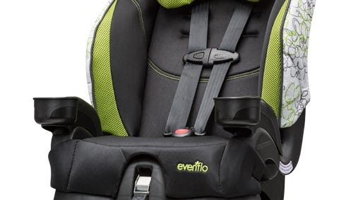 The Chase car seat was one of the several models included in Evenflo's recall.
