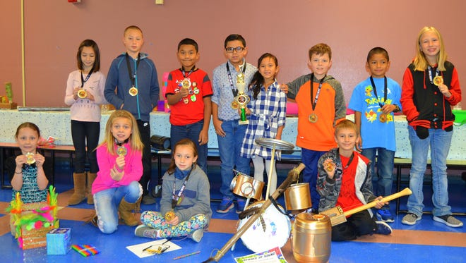 Students at White Mountain Elementary created their own instruments as part of the STEAM Challenge in music.