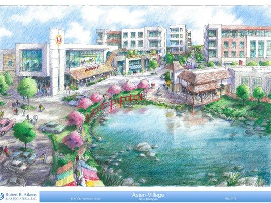 NNO asian village - rendering