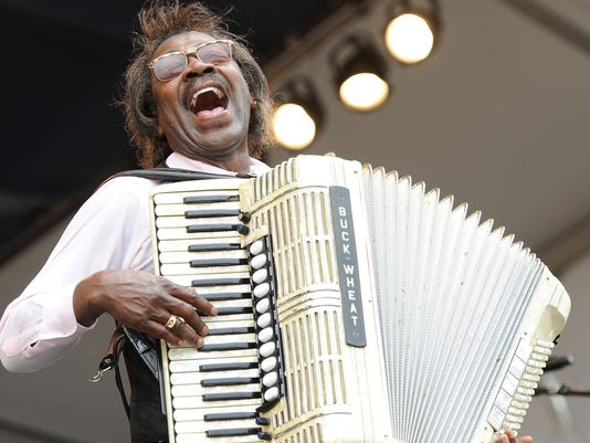 FILE: Buckwheat Zydeco Dies At The Age Of 68. 2010 New Orleans Jazz & Heritage Festival Presented By Shell - Day 5