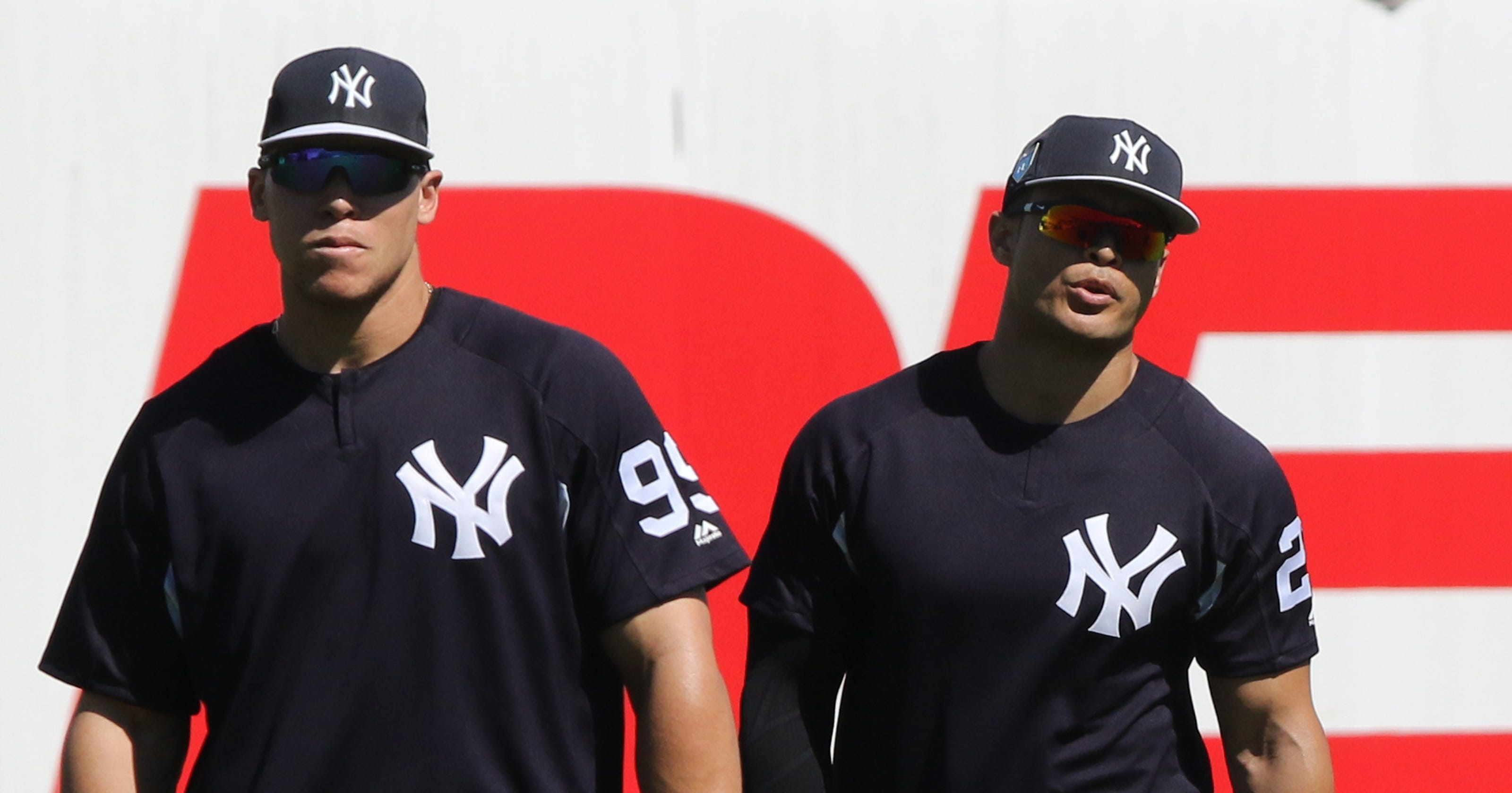info for d9448 7d532 Giancarlo Stanton, Aaron Judge take their first cuts ...