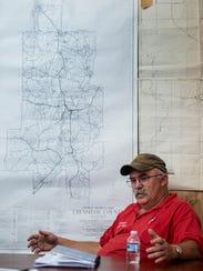 Rutledge, Ala., Mayor Steve Phillips, shown at town