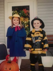 Miss Wisconsin 2016 Courtney Pelot and her brother Ty, Halloween 2000.