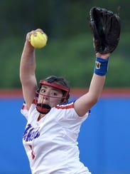 Neshoba Central's Aspen Wesley pitches against Madison
