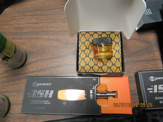 Illegal THC products seized in a traffic stop in Ballinger