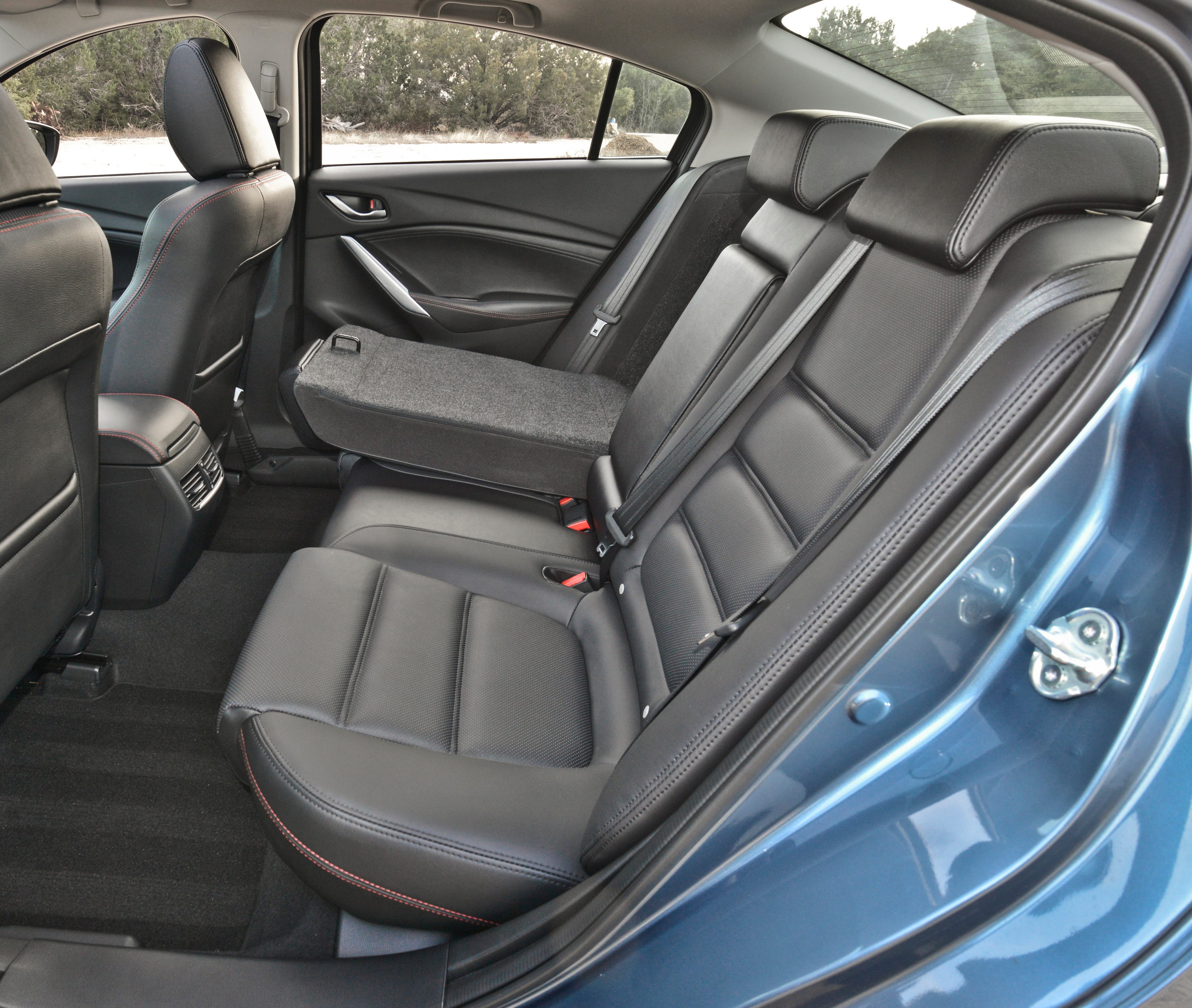 The 2014 Mazda 6's stylish made entry into the rear seat a little tight, but there is plenty of room once you get there.