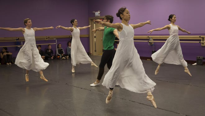 Atlantic City Ballet practice before their performance of the Nutcracker at the Strand Theater in Lakewood.