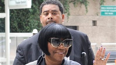 Soul singer Patti LaBelle arrives at the federal courthouse for jury selection Sept. 16  in Houston. A former West Point cadet sued  LaBelle saying she ordered her bodyguards to beat him up as he waited for a ride home outside a Houston airport terminal in 2011.