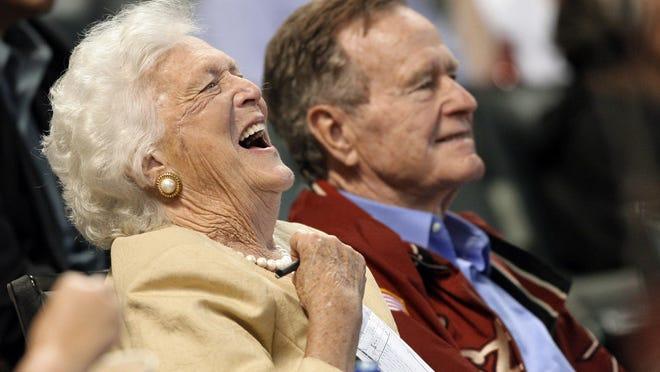 Barbara Bush and former President George H.W. Bush